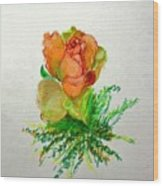 Tea Rose                        Copyrighted Wood Print