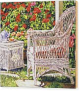 Tea Time Wood Print by David Lloyd Glover