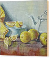 Tea With Lemon Wood Print