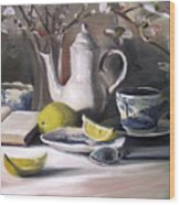 Tea With Lemon Wood Print