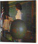 Teaching Globe Wood Print