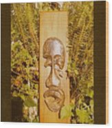 Teak Man Mask Wood Print