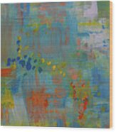 Teal Abstract, A New Look Again Wood Print