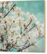 Teal Dogwood No. 1 Wood Print
