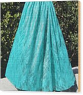 Teal Green Lace Skirt. Ameynra By Sofia Wood Print