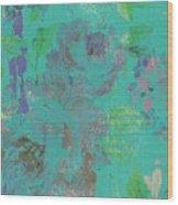 Teal Spring Wood Print