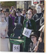 Team 55 At Emma Crawford Coffin Races In Manitou Springs Colorado Wood Print