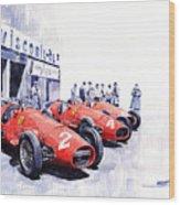 1953 Team Ferrari 500 F2 German Gp Wood Print