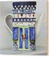 Teapot Delusional Wood Print
