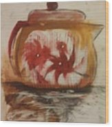 Teapot Wood Print by Gregory Dallum