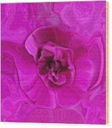 Teapot Rose Wood Print