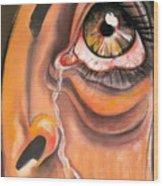 Tear Wood Print by Yxia Olivares
