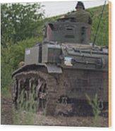 Tearing It Up - M3 Stuart Light Tank Wood Print