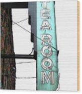 Tearoom Sign Wood Print