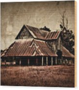 Teaselville Texas Barns Wood Print
