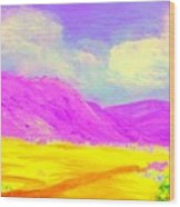 Technicolor Desert Wood Print