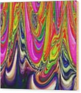 Technicolor Magma Wood Print