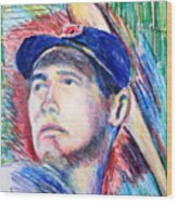 Ted Williams Boston Redsox  Wood Print by Jon Baldwin  Art