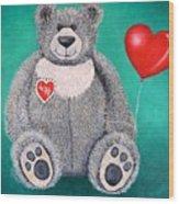 Teddy Bear Eli Wood Print