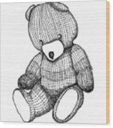 Teddy Bear Wood Print by Karl Addison