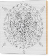 Teddy Bear Mandala Wood Print