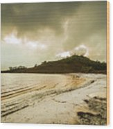 Teds Beach At Dusk Wood Print
