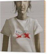 Tee Shirt Portrait Wood Print