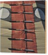 Teepee Closure  Wood Print