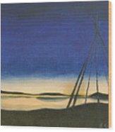 Teepee Poles Wood Print