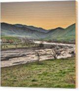 Tehachapi Loop Climb Wood Print by Connie Cooper-Edwards