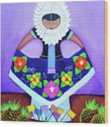 Tehuana Wood Print