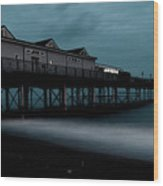 Teignmouth Pier At Dusk  Wood Print