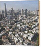 Tel Aviv And Ramat Gan Israel Wood Print