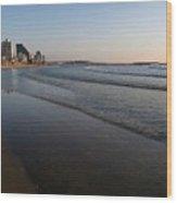 Tel Aviv Beach Wood Print