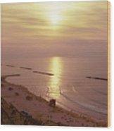Tel Aviv Beach Morning Wood Print