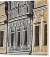 Telc Facade #2 - Czech Republic Wood Print