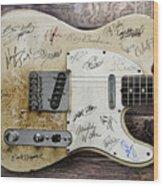 Telecaster Guitar Fantasy Wood Print