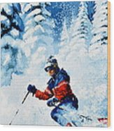 Telemark Trails Wood Print