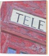 Telephone Booth Wood Print