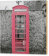 Telephone Wood Print