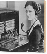 Telephone Operator Wood Print by General Photographic Agency
