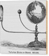 Tellurian Globe Wood Print