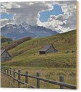 Telluride Countryside Wood Print
