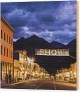 Telluride Main Street Wood Print
