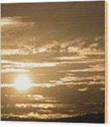 Telstra Tower Sunset Wood Print