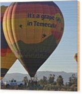 Temecula Wine Country Wood Print