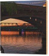 Tempe Bridges Wood Print