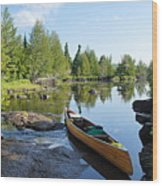 Temperance River Portage Wood Print