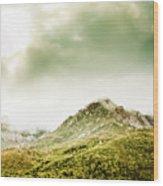 Temperate Alpine Terrain Wood Print