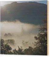 Temperature Inversion Traps Mist Over Ambleside Wood Print